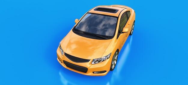 Оранжевый маленький спортивный автомобиль купе