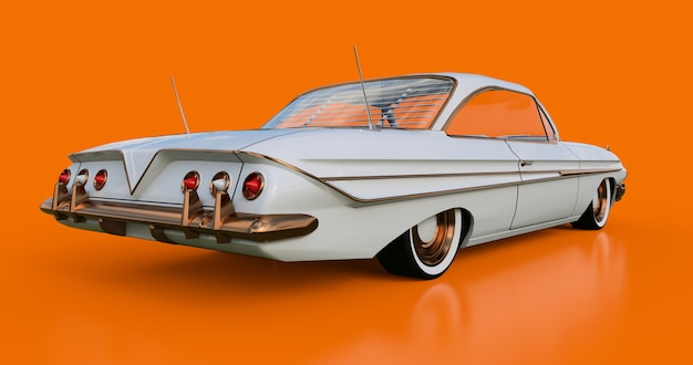 Установлен старый американский автомобиль в отличном состоянии