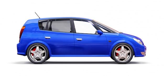創造的なデザインの空白の表面を持つ青い都市車