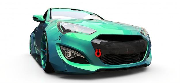 緑の小さなスポーツカークーペ