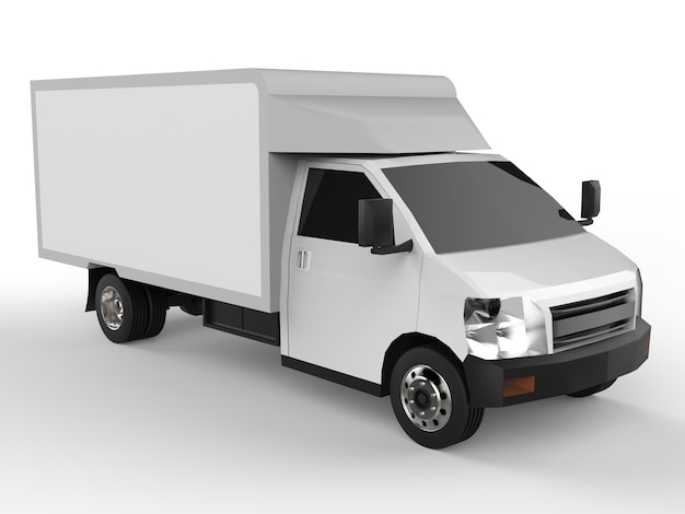 小さな白いトラック