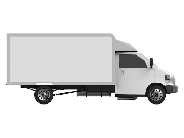 Маленький белый грузовик