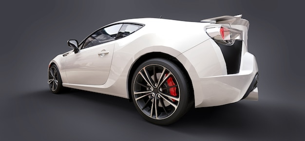 白い小さなスポーツカークーペ