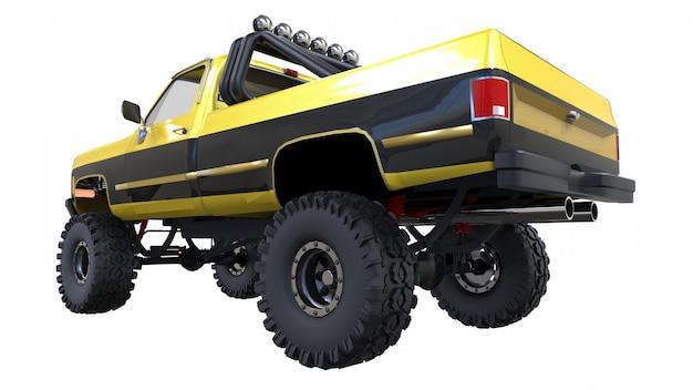 オフロードの大型ピックアップトラック