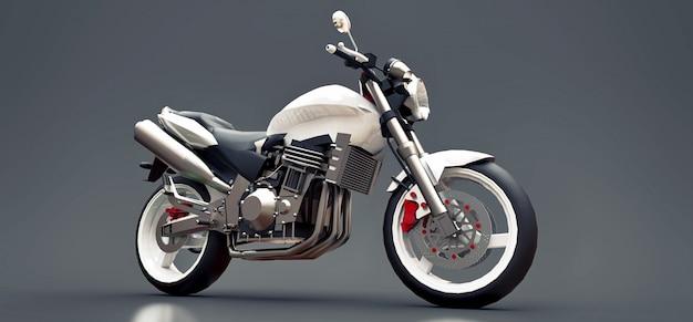 Белый городской спортивный двухместный мотоцикл