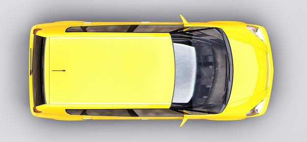 光沢のある表面と黄色の市車