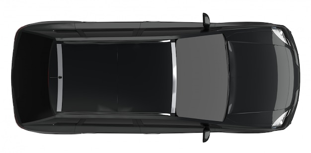 コンパクトシティクロスオーバーブラックカー