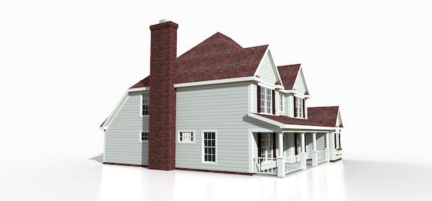 Визуализация классического американского загородного дома