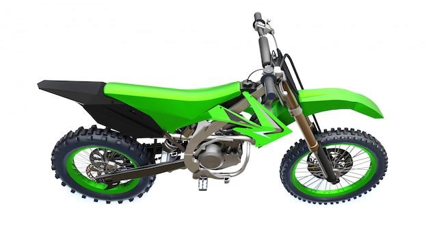 Зеленый и черный спортивный мотоцикл для кросса