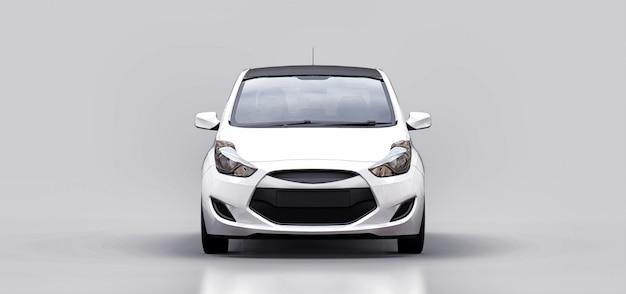 空白の表面を持つ白い都市車