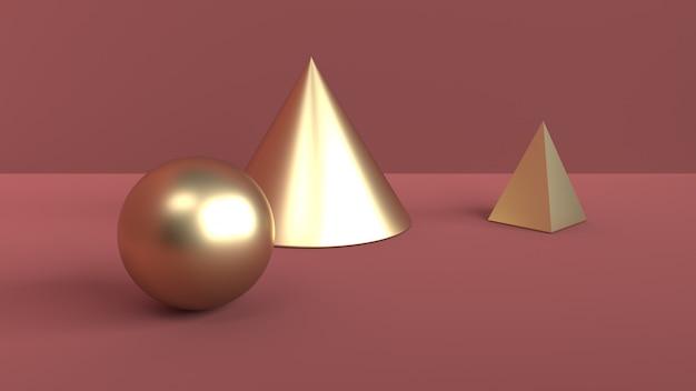 幾何学的図形の抽象的なシーン