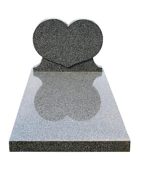 切り取られた単一の墓石