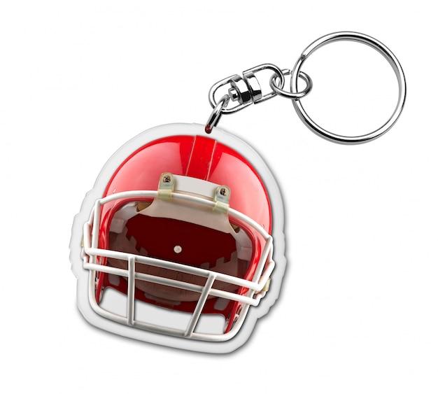 アメリカンフットボールのヘルメットのシンボルとギフトキーホルダー