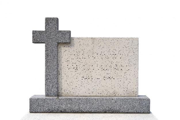 切り取られたシングル墓石(クリッピングパス)