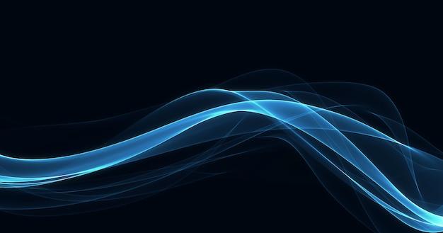 暗い背景に輝く青い線