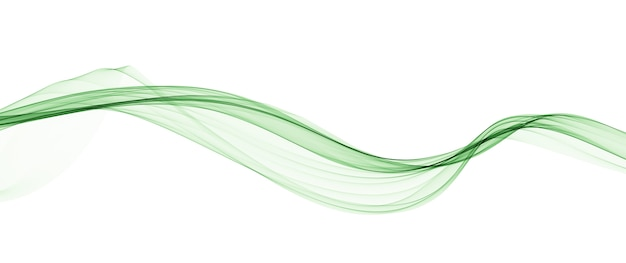 抽象的な緑の滑らかな波の線