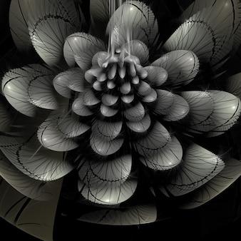 抽象的なフラクタルの花の背景の壁紙