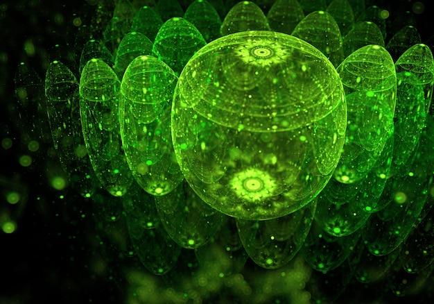 抽象的な緑のファンタジーの背景