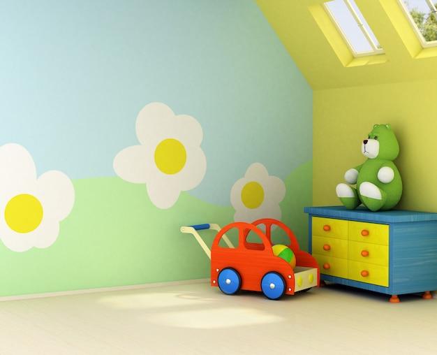 赤ちゃんのための新しい寝室