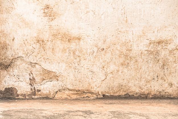 床の端と空の壁と汚れた背景