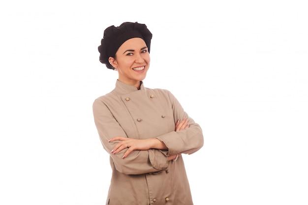 Милая женщина шеф-повара