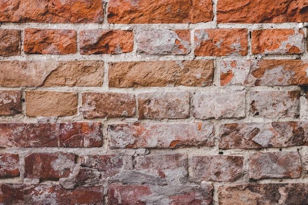 Гранжевая структура кирпичной стены. кирпичная кладка фон
