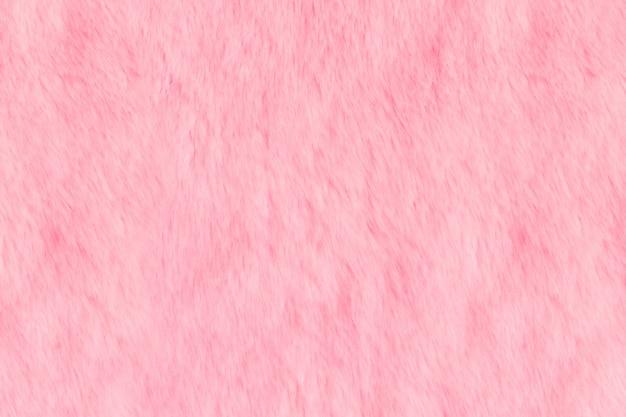 ピンクの毛皮のような毛皮の質感。動物の柔らかい風合い