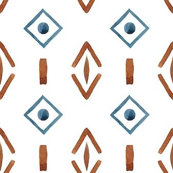 部族の幾何学的な抽象的なシームレスパターン