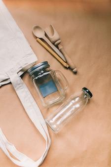 無料のプラスチックの廃棄物ゼロショッピングコンセプト