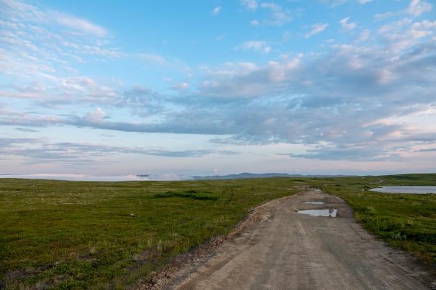 スレドニ半島、ムルマンスク地方、藻が投げられた海、北極海の海岸、スレドニ半島