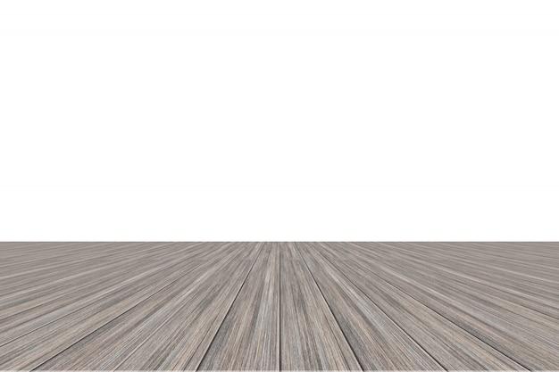 白い背景の木の床
