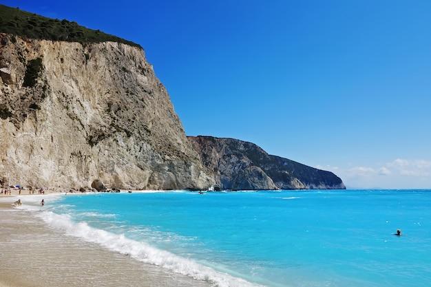ポルトカチキビーチ、レフカダ島、ギリシャ