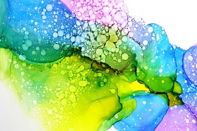 アルコールインク絵画の抽象的な背景