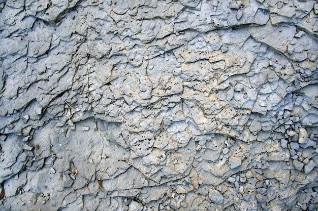 古いひびの入ったコンクリート表面のテクスチャ