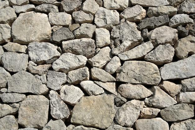 灰色の古い石造りの壁の装飾