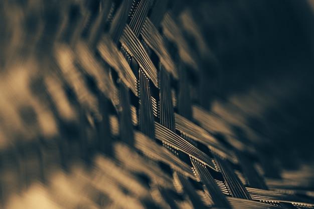 金属製の枝編み細工品の表面。