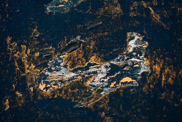 Синий золотой старинный фон искусства