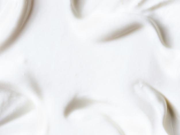 ギリシャヨーグルトやサワークリームのテクスチャ背景