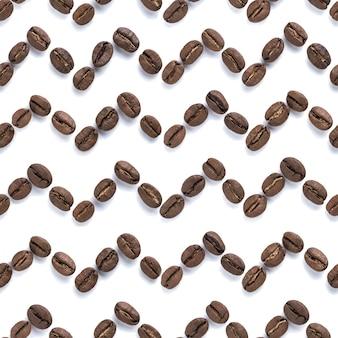 コーヒー豆のシームレスパターン