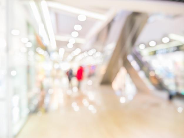 ショッピングモール、フォーカスの浅い深さの抽象的な背景。