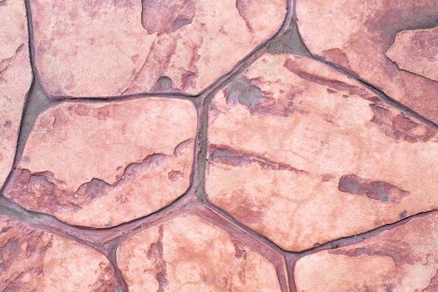 建築床を飾るための茶色の石