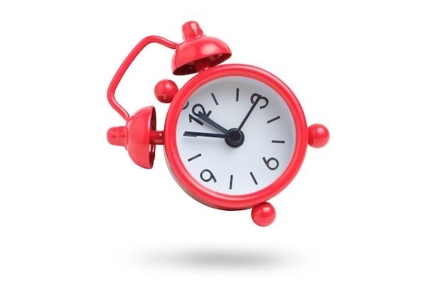 白地に赤のアナログ時計