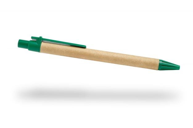 白い背景の上のカジュアルなボールペン。分離されました。