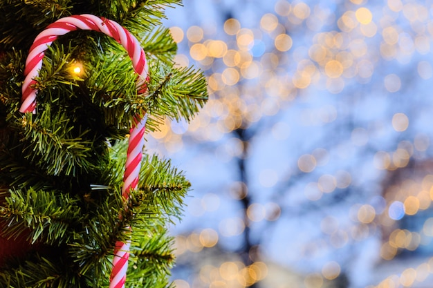 クリスマスの赤と白のロリポップ