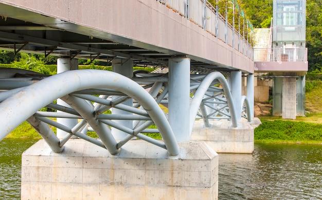 川を渡る橋。