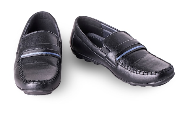 分離された子供の靴モカシン