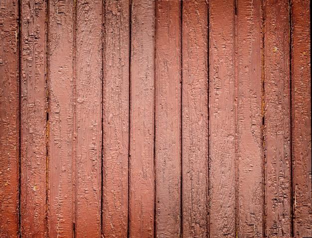 古い茶色の塗られた木の板の背景