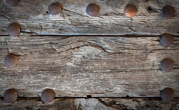 木の金属のテクスチャ背景