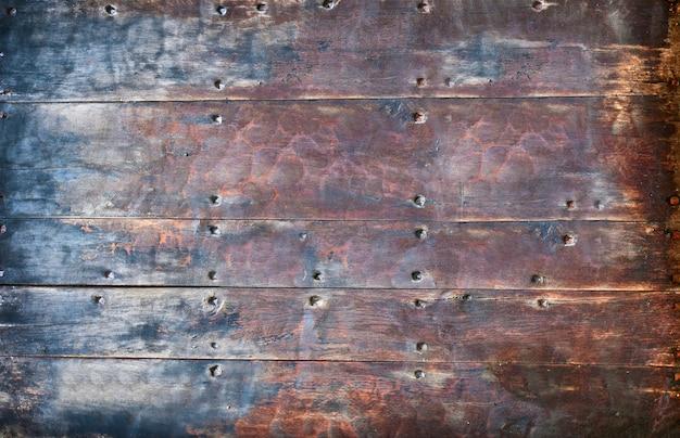 農村の古い、グランジ古代の木製の表面