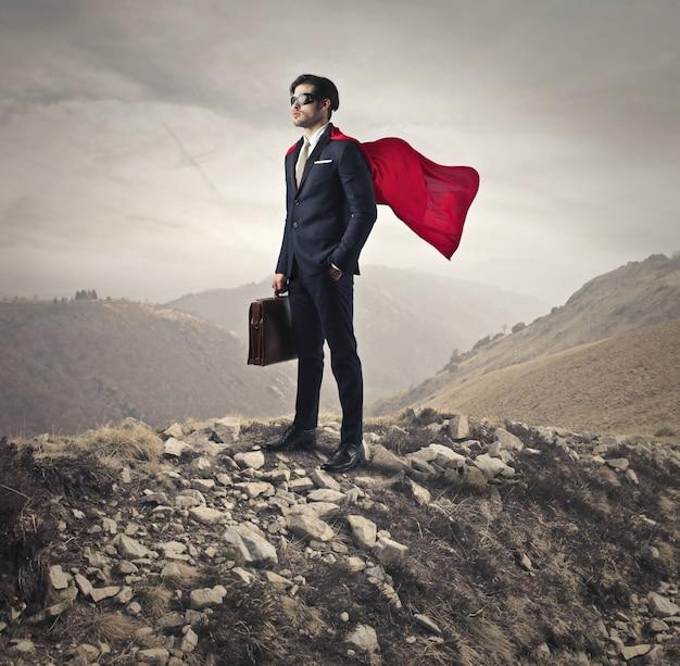 ビジネスマンのスーパーマンパワー